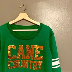 """University of Miami """"Cane Country"""" VS Pink Sweater"""